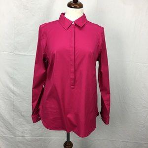 Talbots Pink Quarter Button Top